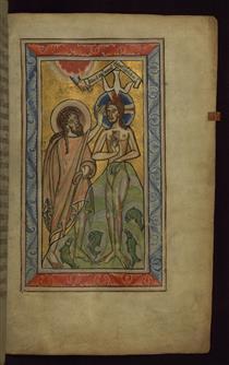 John baptizing Christ - Claricia