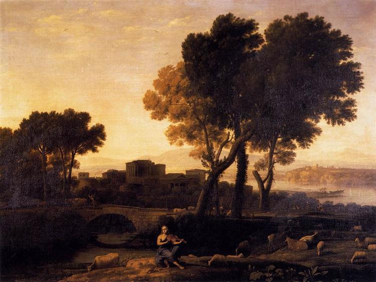 Apollo Guarding the Herds of Admetus, 1654 - Claude Lorrain