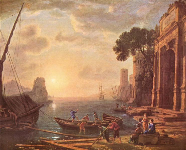Port at sunset, c.1649 - Claude Lorrain