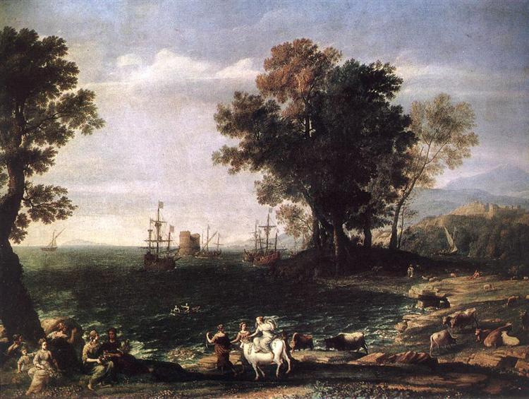 The Rape of Europa, 1655 - Claude Lorrain
