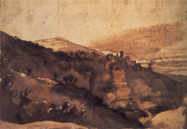 View of Tivoli, c.1669 - Claude Lorrain