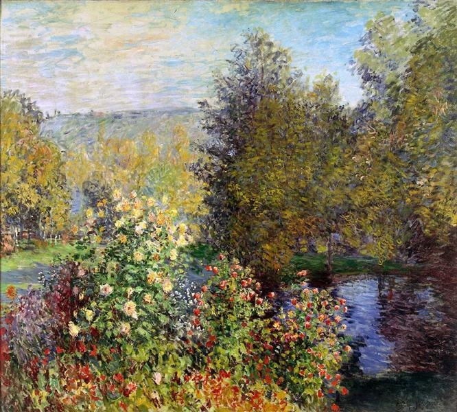 A Corner Of The Garden At Montgeron 1877 Claude Monet Wikiart Org