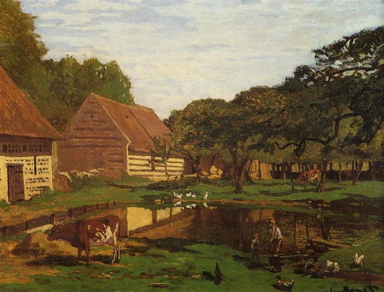 A Farmyard in Normandy - Claude Monet