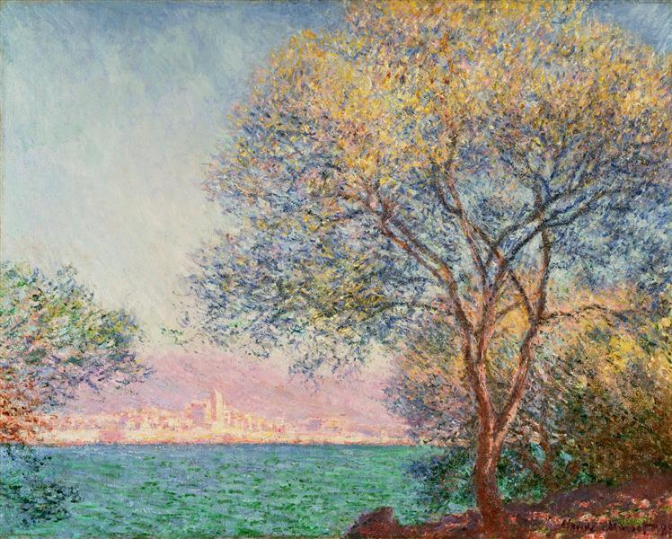 Antibes in the Morning, 1888 - Claude Monet
