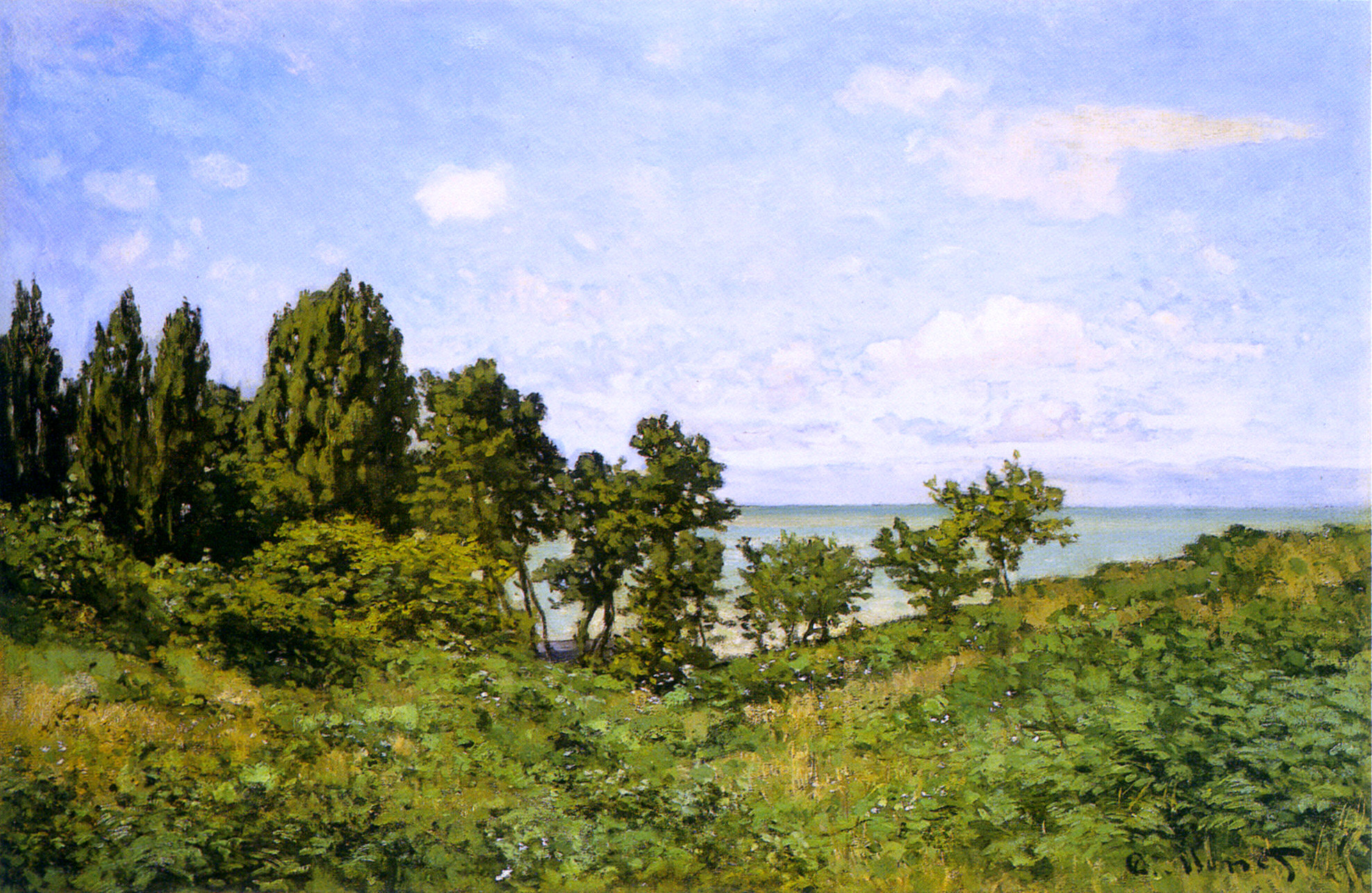 By the Sea by Claude Monet
