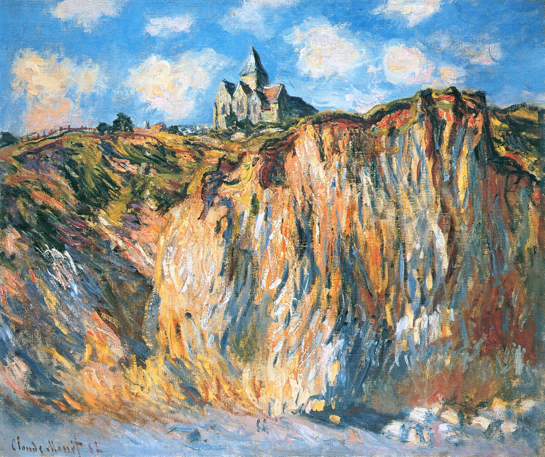 Image result for The Church at Varengeville monet