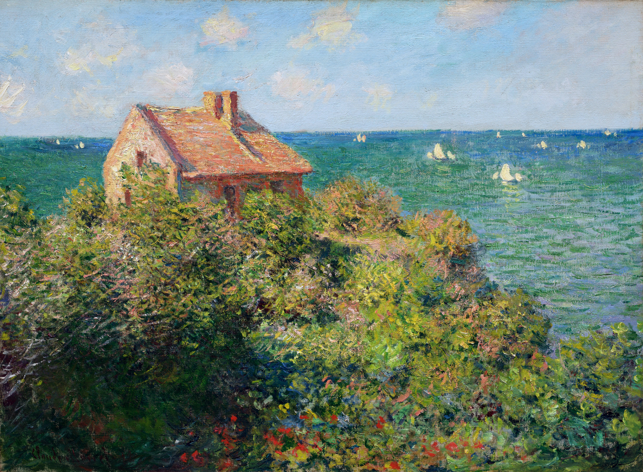 Fisherman 39 s cottage at varengeville claude monet encyclopedia of visual arts - The fishermans cottage ...