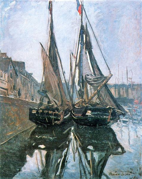Fishing Boats at Honfleur, 1868 - Claude Monet