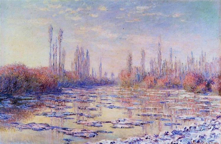 Floating Ice on the Seine, 1880 - Claude Monet
