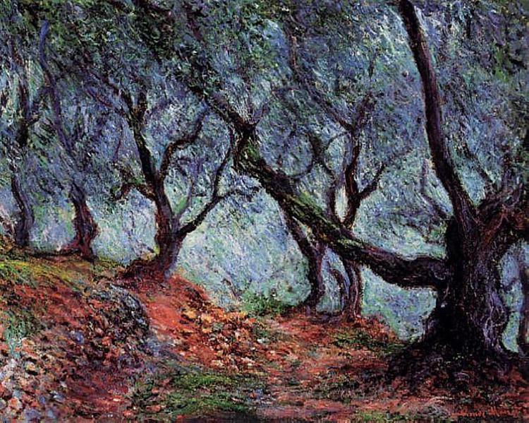 Grove of Olive Trees in Bordighera, 1884 - Claude Monet