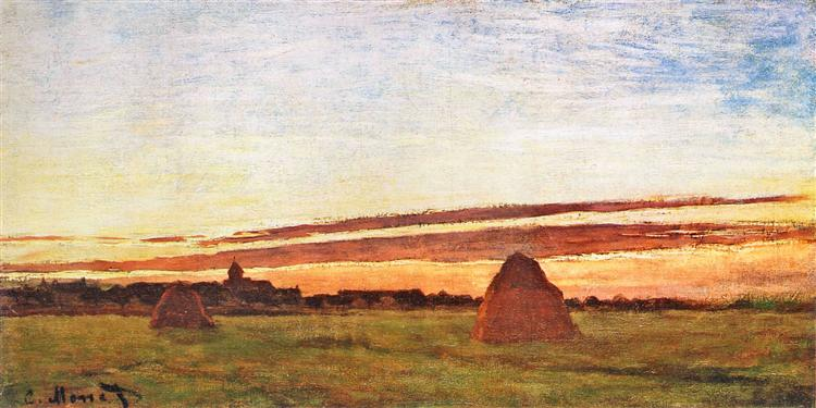 Haystacks at Chailly, 1865 - Claude Monet