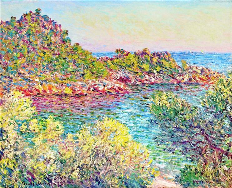Landscape near Montecarlo, 1883 - Claude Monet