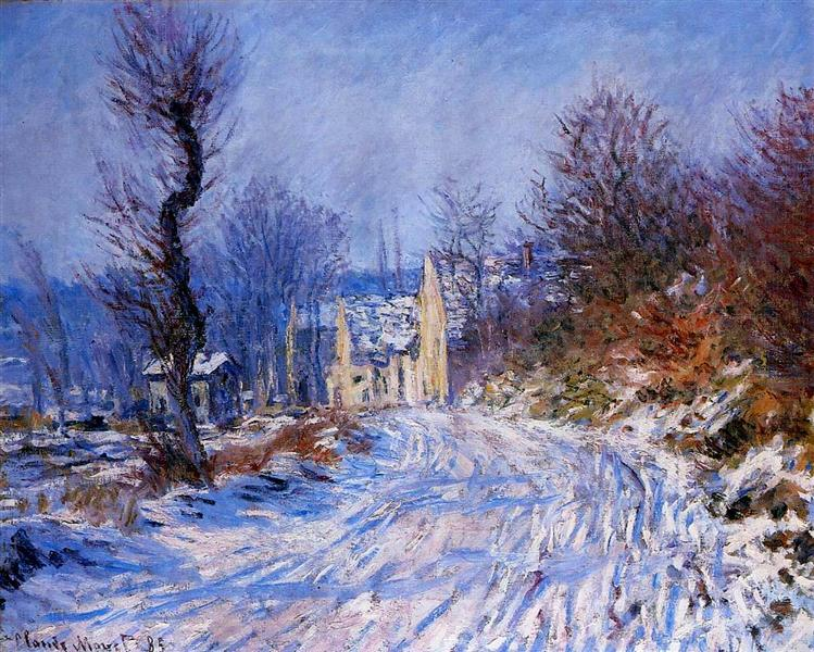 Road to Giverny in Winter, 1885 - Claude Monet