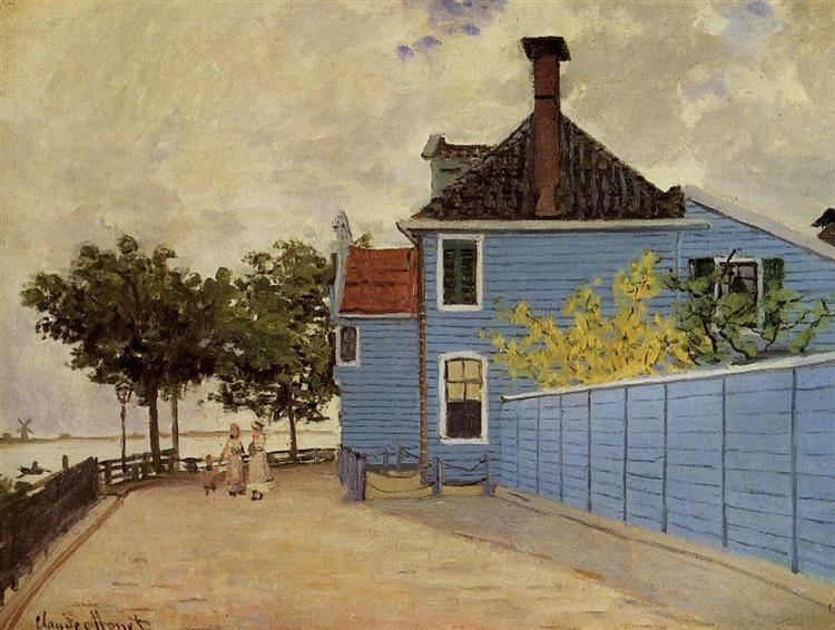 The Blue House at Zaandam - Monet Claude