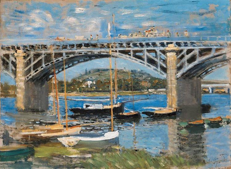 The Bridge over the Seine, 1874 - Claude Monet