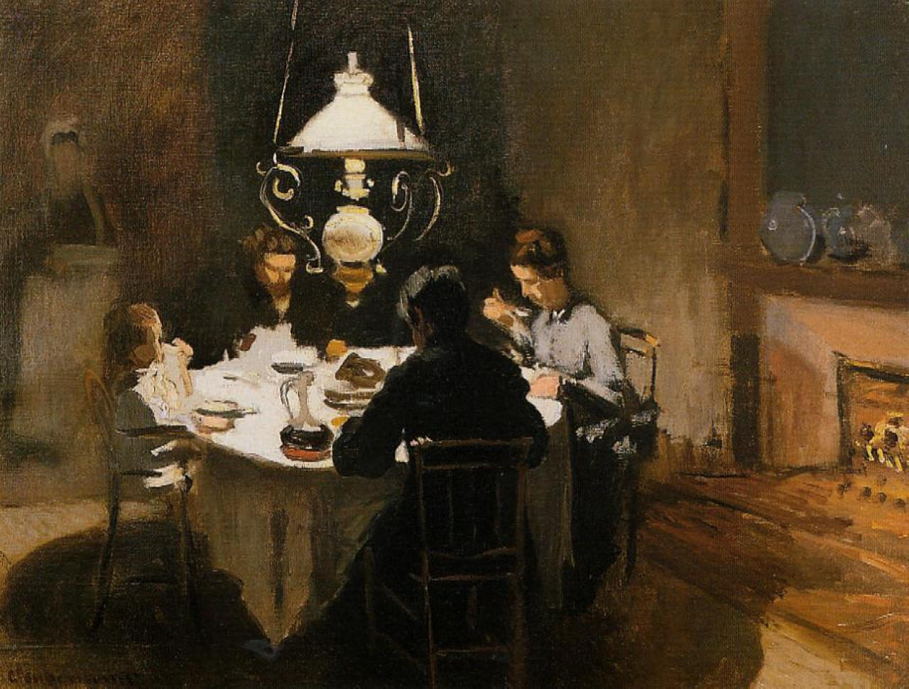 The Dinner 1869 Claude Monet Wikiart Org