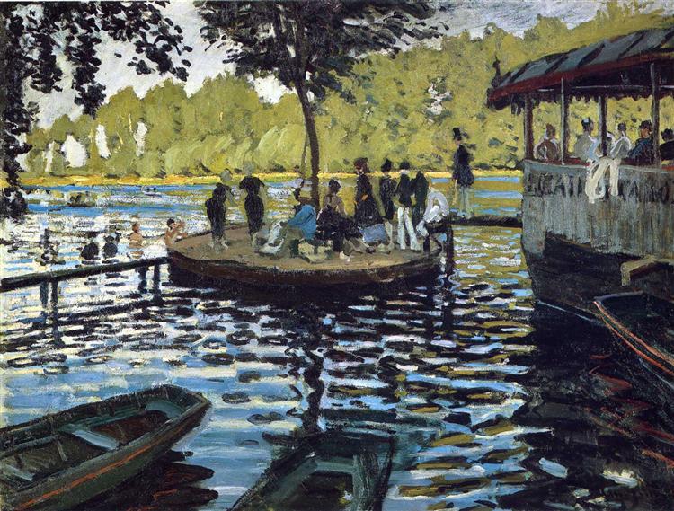 Banhistas na Grenouillière, 1869 - Claude Monet