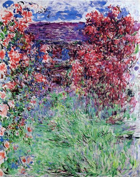 the house among the roses 1925 claude monet. Black Bedroom Furniture Sets. Home Design Ideas