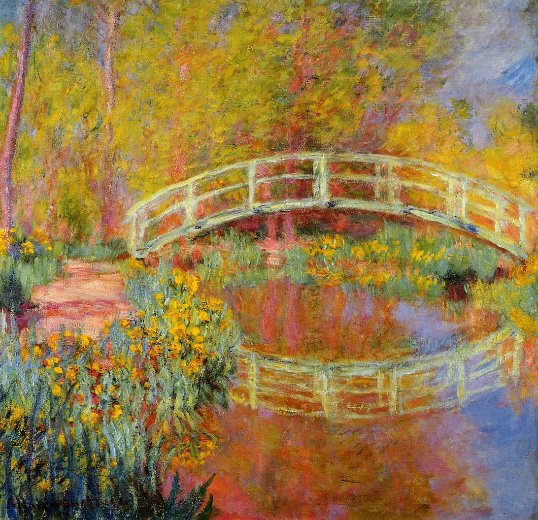 The Japanese Bridge The Bridge in Monets Garden 1895 1896