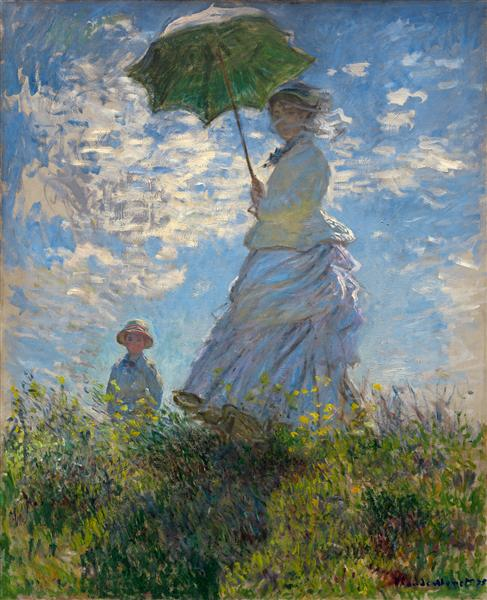 The Promenade, Woman with a Parasol, 1875 - Claude Monet