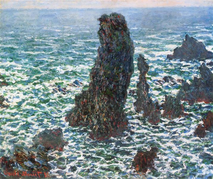 The Pyramids of Port Coton, Belle-Ile-en-Mer, 1886 - Claude Monet