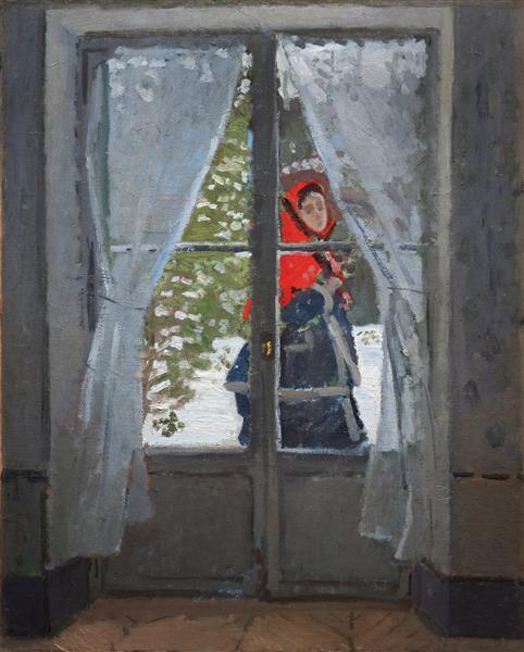 The Red Cape (Madame Monet), c.1870 - Claude Monet
