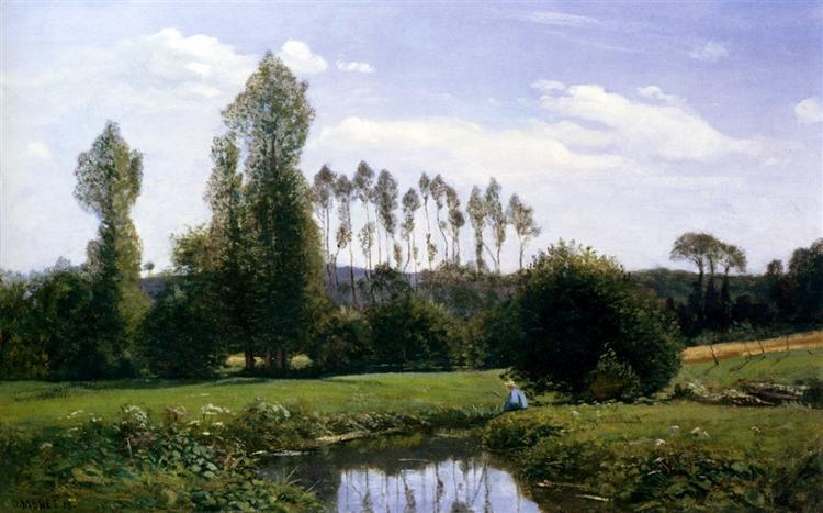 Vue prise à Rouelles, 1858 - Claude Monet