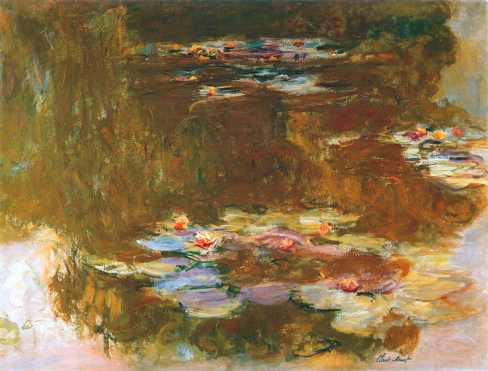 Water Lily Pond, 1917 - Claude Monet - WikiArt.org
