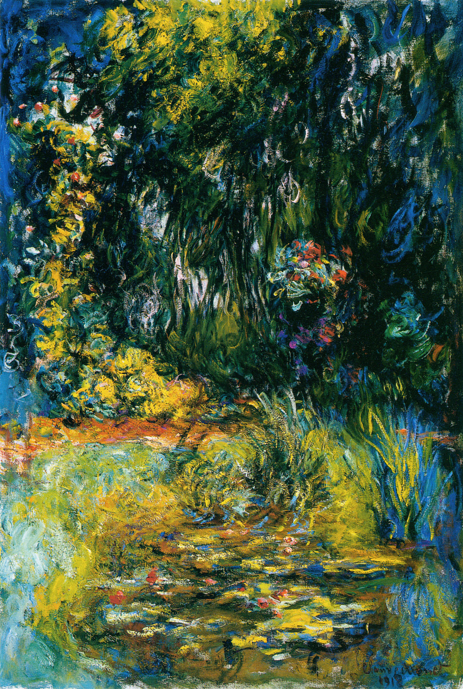 Water Lily Pond, 1918 - Claude Monet - WikiArt.org