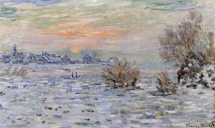 Winter on the Seine, Lavacourt, 1879 - 1880 - Claude Monet