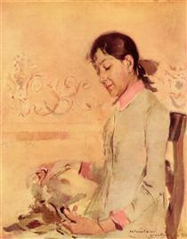 Retrato de Helena Bordalo Pinheiro - Columbano Bordalo Pinheiro