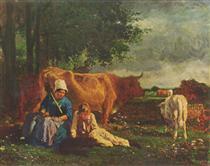 Pastoral Scene - Констан Труайон