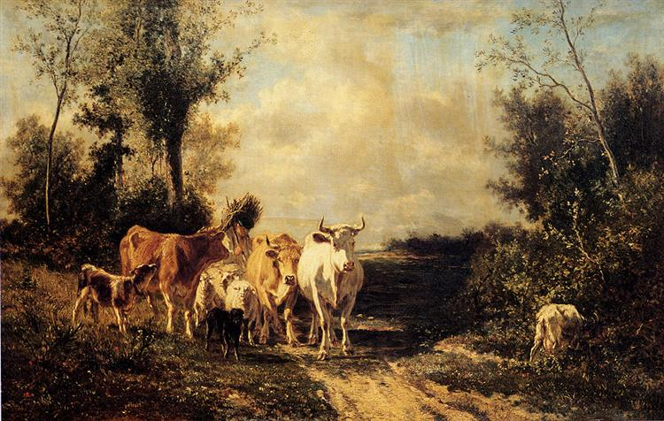 Returning From Pasture - Constant Troyon