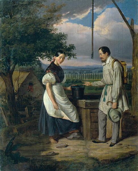 Scene at a Fountain - Constantin Daniel Rosenthal