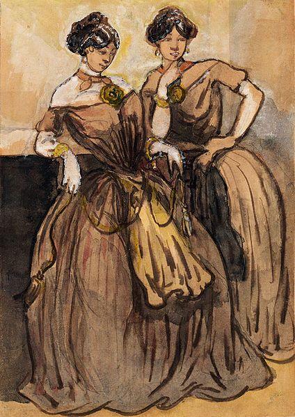 Two Women - Constantin Guys