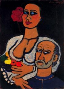 The Artist and His Model - Corneille
