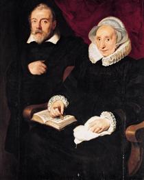 Portrait of Elisabeth Mertens and her Late Husband - Корнелис де Вос