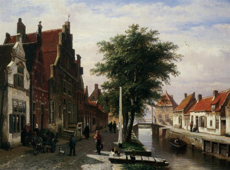 Along the Canal, 1862 - Cornelis Springer