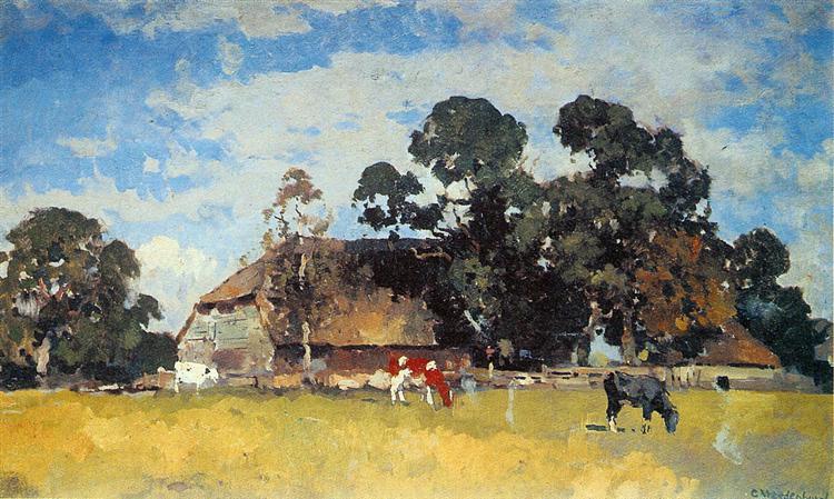 Cows in a meadow - Корнелис Вреденбург