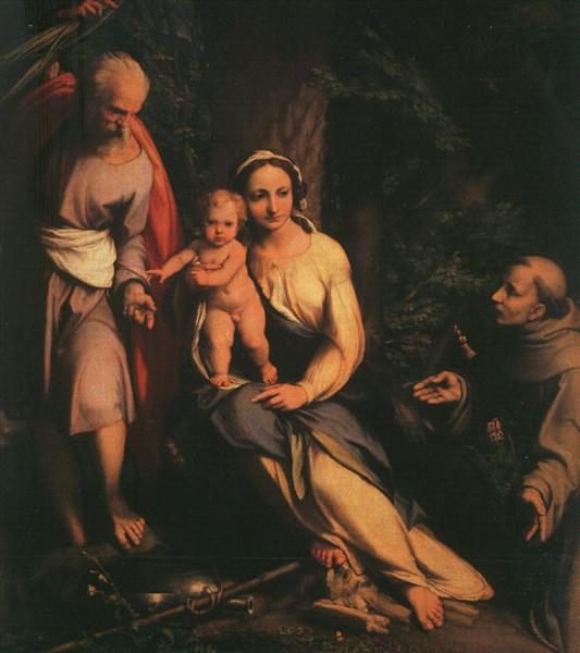 The Rest on the Flight to Egypt with Saint Francis, 1517 - Correggio