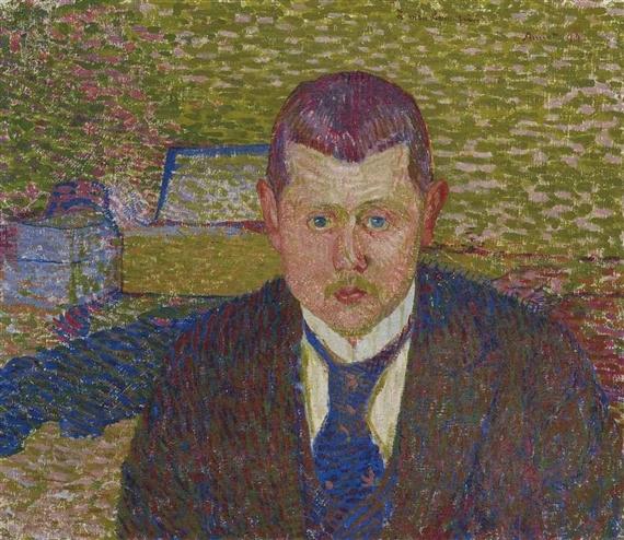 Portrait von Oskar Kurt, 1894 - Cuno Amiet