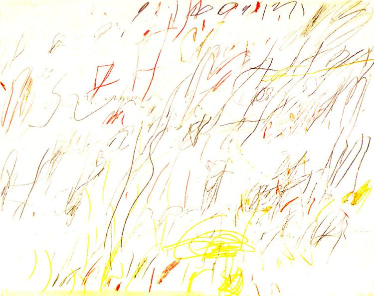 Blue Room, 1957 - Cy Twombly