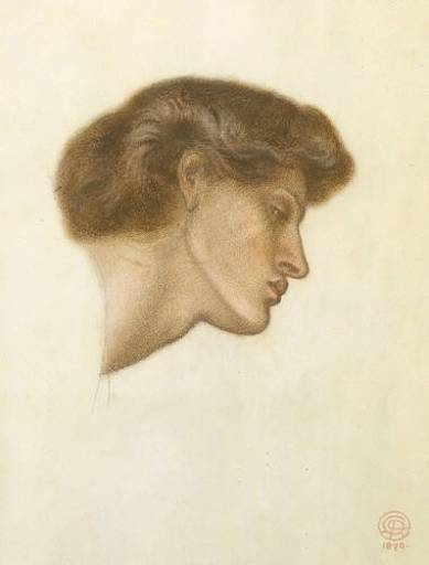 Dante`s Dream at the Time of the Death of Beatrice study, 1870
