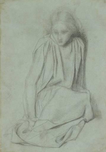 Ecce Ancilla Domini study, 1849