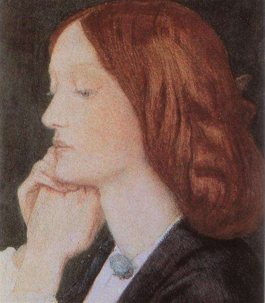 Portrait of Elizabeth Siddal, 1854 - Dante Gabriel Rossetti