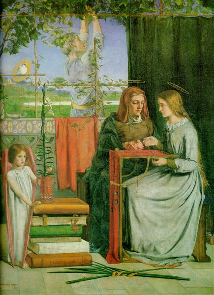 The Childhood of Mary Virgin, 1848 - 1849 - Dante Gabriel Rossetti
