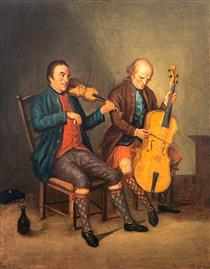 Niel Gow, Violinist and Composer, with his Brother Donald Gow, Cellist - David Allan
