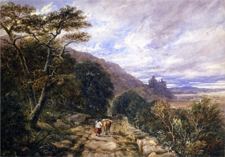 A Country Track Leading to Harlech Castle, 1842 - David Cox