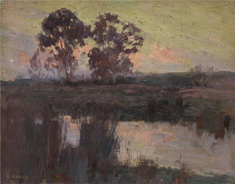 Nocturne, Templestowe, 1896 - David Davies