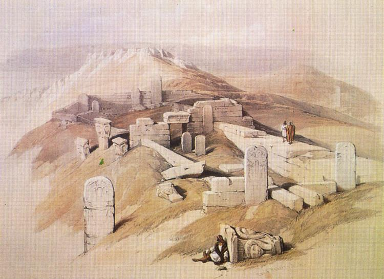 An Ancient Egyptian Temple, on Gebel Garaba - David Roberts
